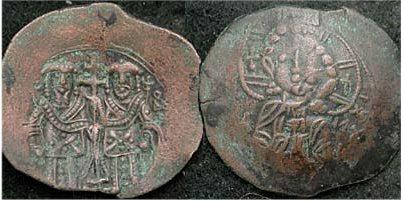 Trachy imitativo del Imperio Latino, ceca Tesalonica Sb2093