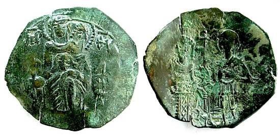 Trachy imitativo del Imperio Latino, ceca Tesalonica Sb2128
