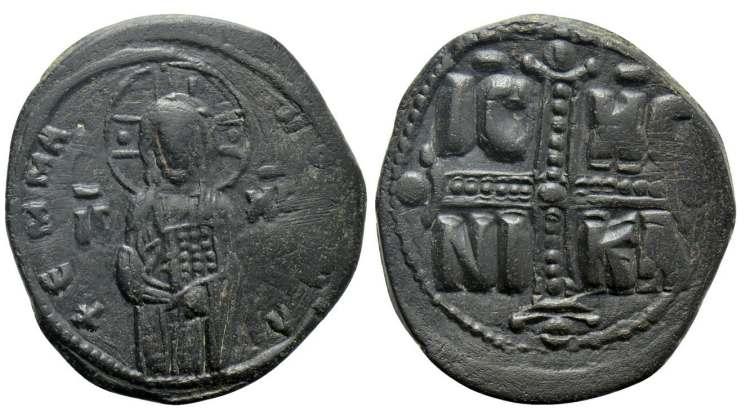 Follis anónimo clase C atribuido a Miguel IV. Sb1825