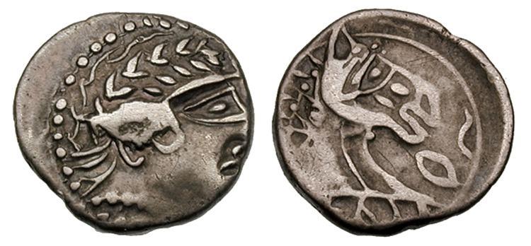 200 BC circ Drachma Gaul, Allobrogers, Rhone Valley, France