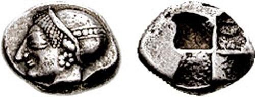 Óbolo de Phokaia dedicado a Illicitano. SNGKayhan_522