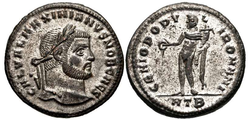 Nummus o follis de Galerio. GENIO POPVLI ROMANI. Heraclea _heraclea_RIC_018b,B