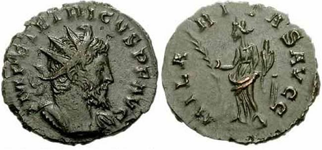 Antoniniano de Tétrico I - Acuñación Bárbara RIC_0079