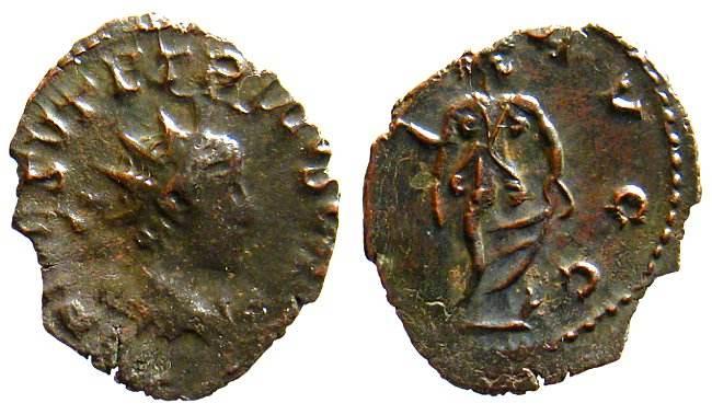 Antoniniano de Tetrico II - Acuñación bárbara Cunetio_2647