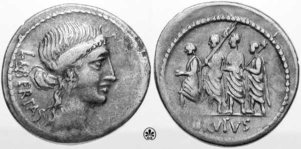 Junia, Roman Republic Coins reference at WildWinds.